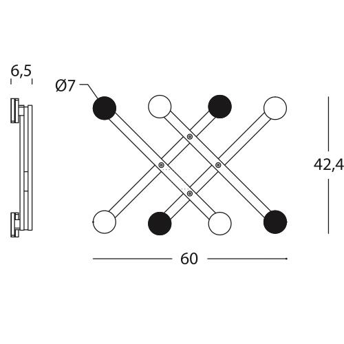 Dimensiones Perchero de Diseño Pauli 274.38.GE 274.38.ED de SANCAL