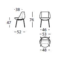 Dimensiones Silla de Diseño Magnum 311.41.7 de SANCAL
