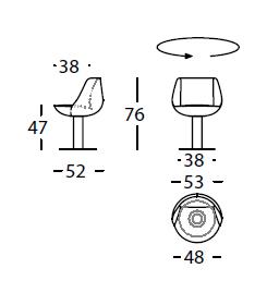 Dimensiones Butaca de Diseño Mini Tortuga 305.56 de SANCAL