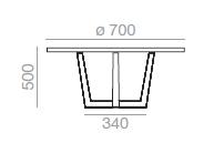 Dimensiones Mesa de Diseño Uves Occasional ME-3697 de Andreu World