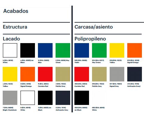 Acabados de colores Taburete Lottus Stool de ENEA