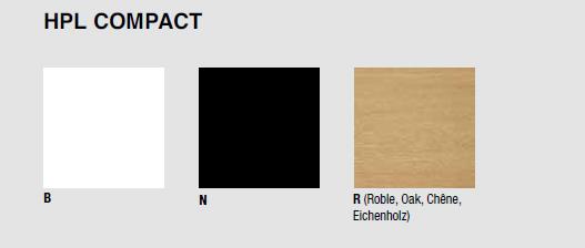 Acabados de madera Mesa de Diseño LTS System Low de ENEA
