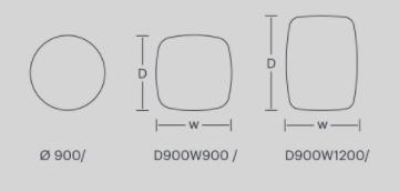 Dimensiones Mesa de Diseño LTS System Low de ENEA