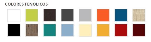 Colores Banco de Vestuario Chasis Acero Inoxidable de Megablok para gimnasios
