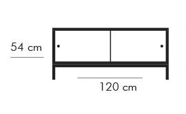 Dimensiones Estantería de Diseño Sapporo 6104 WR de STUA