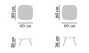 Dimensiones Mesa de Diseño Solapa S66F2 de STUA