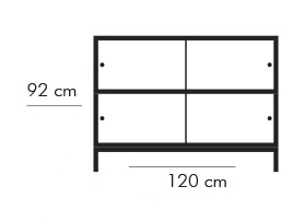 Dimensiones estantería Estantería de Diseño Sapporo 6204 W de STUA