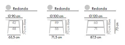 Dimensiones Mesa de Diseño Lau de STUA