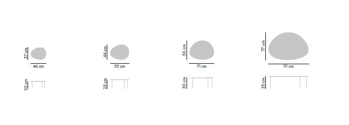 Dimensiones Mesa de Diseño Eclipse de STUA