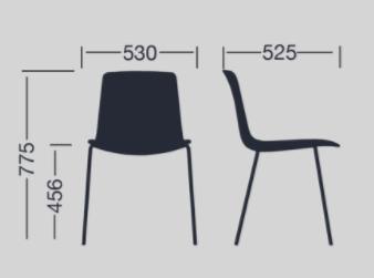 Colores Silla de Diseño Lottus Chair de ENEA