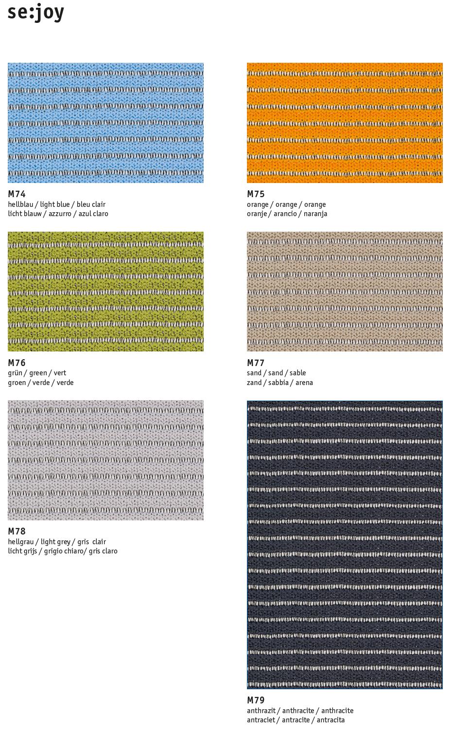 Tapizados de colores Silla Giratoria Se:joy ec-180 de Sedus