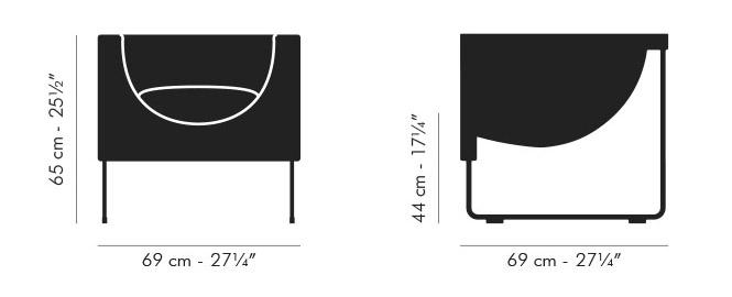 Dimensiones Sillón de Diseño NUBE de STUA